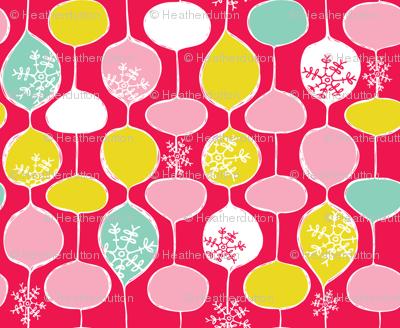 Snowflake Holiday Bobbles - Festive