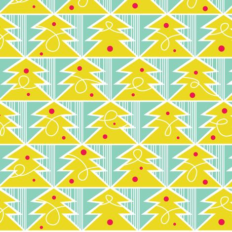 Trim A Tree - Festive Green fabric by heatherdutton on Spoonflower - custom fabric