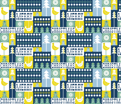 Christmas Collage - Frost Midnight fabric by heatherdutton on Spoonflower - custom fabric