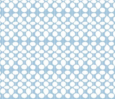 Holiday Bobbles - Frost Blue fabric by heatherdutton on Spoonflower - custom fabric