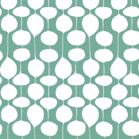 Bobbles - Frost Evergreen fabric by heatherdutton on Spoonflower - custom fabric