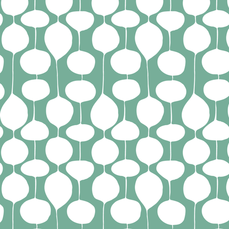 Holiday Bobbles - Frost Evergreen fabric by heatherdutton on Spoonflower - custom fabric