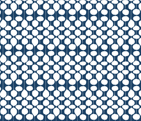 Holiday Bobbles - Frost Midnight fabric by heatherdutton on Spoonflower - custom fabric