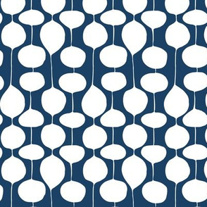 Holiday Bobbles - Abstract Geometric Frost Midnight