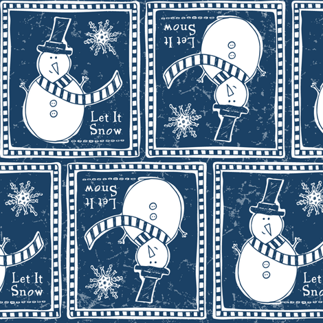Let It Snow - Frost Midnight fabric by heatherdutton on Spoonflower - custom fabric