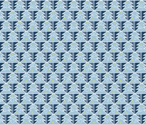 Trim A Tree - Frost Blue fabric by heatherdutton on Spoonflower - custom fabric