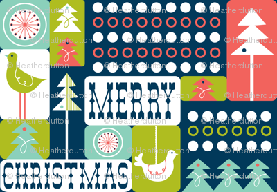 Christmas Collage - Remix Blue