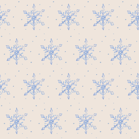 Snowflakes fabric by aubgerineandpurple on Spoonflower - custom fabric