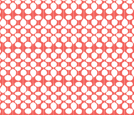 Holiday Bobbles - Remix Red fabric by heatherdutton on Spoonflower - custom fabric