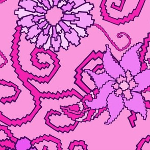 Pink and Purple Pixel Pattern