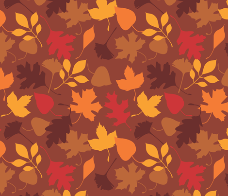 leaves everywhere! fabric by camcruz on Spoonflower - custom fabric
