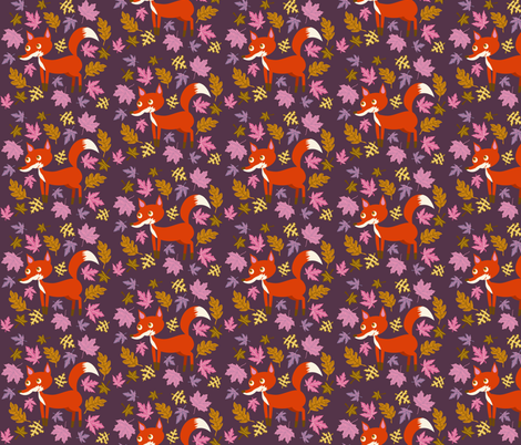 Fox Leaves fabric by heidikenney on Spoonflower - custom fabric