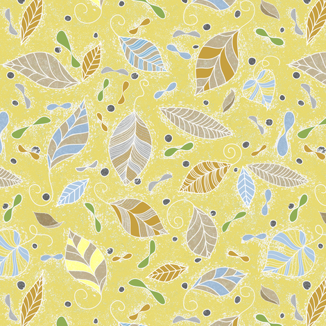 Leaves drenched in sunshine fabric by vo_aka_virginiao on Spoonflower - custom fabric