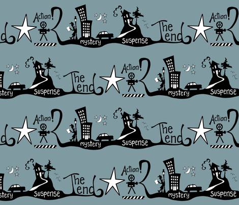 Film Noir Movie Reel fabric by brendazapotosky on Spoonflower - custom fabric