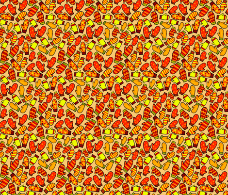 Millions of Mittens fabric by antonybriggs on Spoonflower - custom fabric