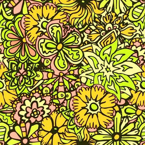 Yellow Hippy Flowers