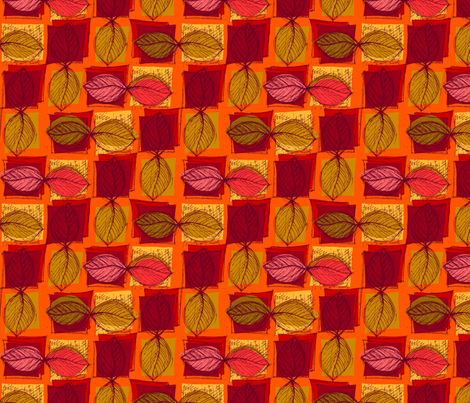 Autumn Leaves fabric by woodledoo on Spoonflower - custom fabric