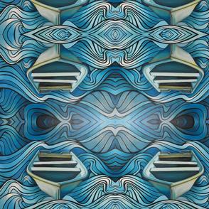 boat in blue water
