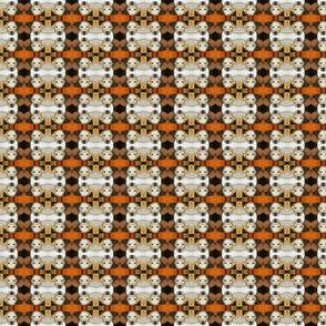 Pit bull mosaic - Blue in orange-ed