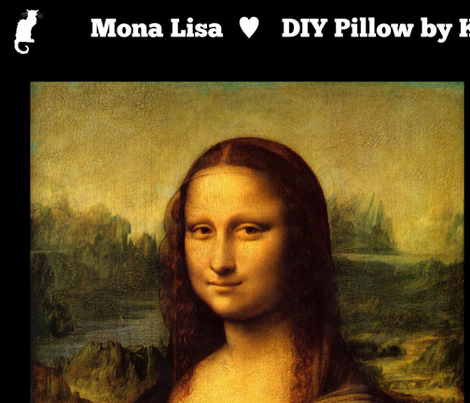 Mona Lisa DIY Pillow Project