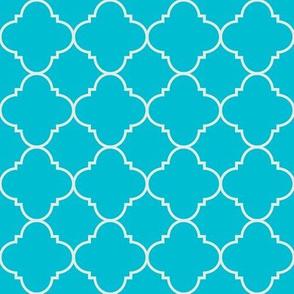 turquoise quatrefoil