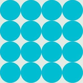 giant turqouise dots
