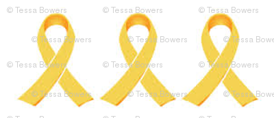 Small Gold Ribbon