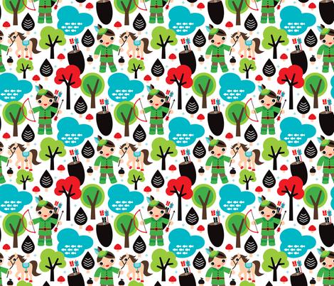 Robin Hood woodland print for boys
