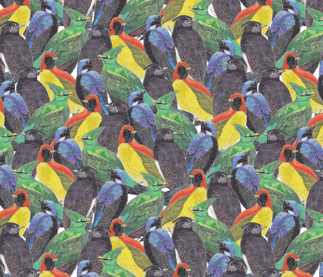 Birds Birds Birds fabric by lydia_meiying on Spoonflower - custom fabric