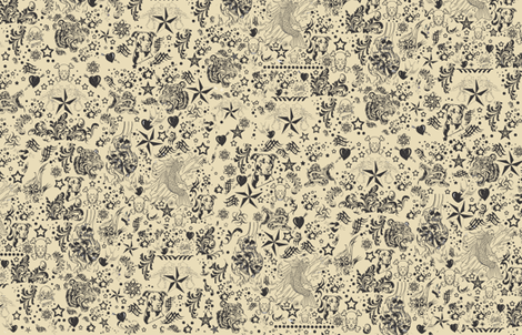 tattoodlady fabric by janetm on Spoonflower - custom fabric