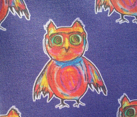 THE OWL WITH GOGGLES on Blue