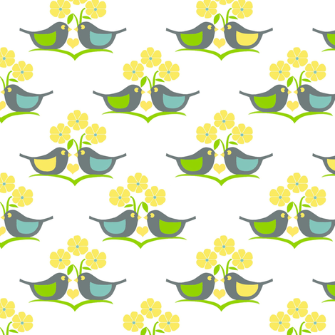 Bird love  fabric by alfabesi on Spoonflower - custom fabric