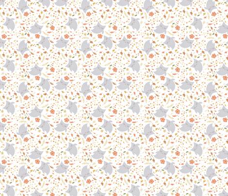 Autmn Owl in Leaves fabric by hollybjones on Spoonflower - custom fabric