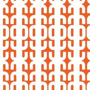 Mid Mod Orange & White
