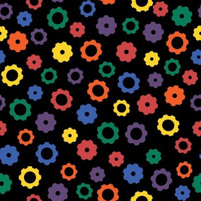 Rainbow Robot Gears (Dark)