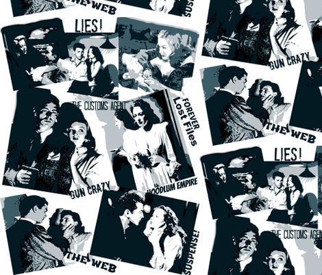 Film- Noir:The Fabric of Deceit! fabric by artland95 on Spoonflower - custom fabric