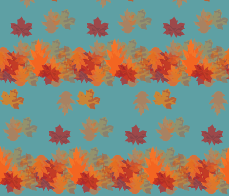 leaves fabric by gemmacosgrove-ball on Spoonflower - custom fabric