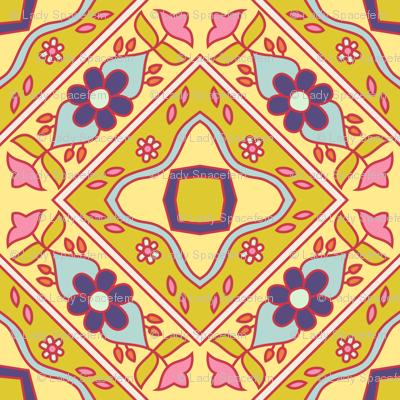 Diagonal flowers spring pallet