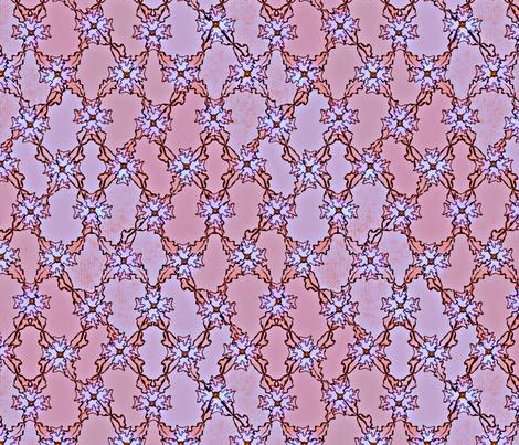 Autumn Leaves Argyle - Sunset fabric by glimmericks on Spoonflower - custom fabric