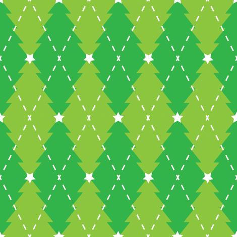 oh argyle tree fabric by meglish on Spoonflower - custom fabric