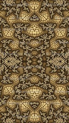 Gold Fractal Swirl