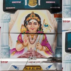 Hindu God on the Back of a Bus, Chennai