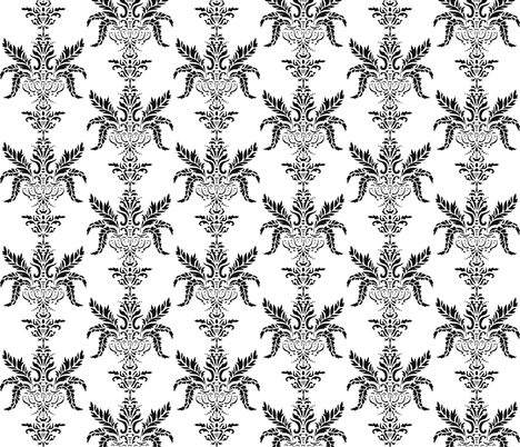 Vintage Black fabric by craftydevil on Spoonflower - custom fabric
