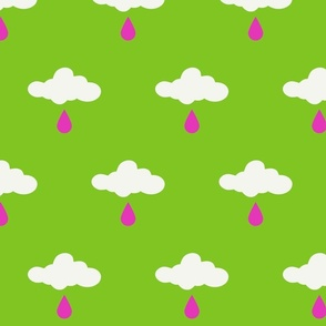 howdy cloudy rain pink