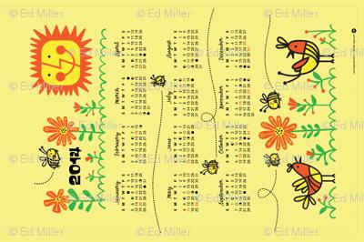 2014 Bees Calendar