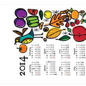 2014 Kitchen Calendar