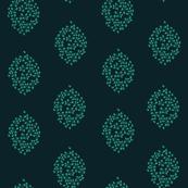 Blissful Oak Leaves {Navy & Teal}