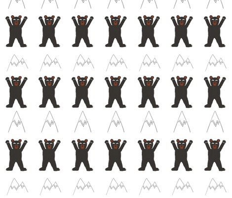 Black bears in the mountains fabric by laurenmholton on Spoonflower - custom fabric