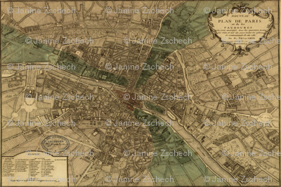 Paris Map of 1740