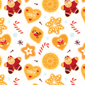 Christmas cookie pattern